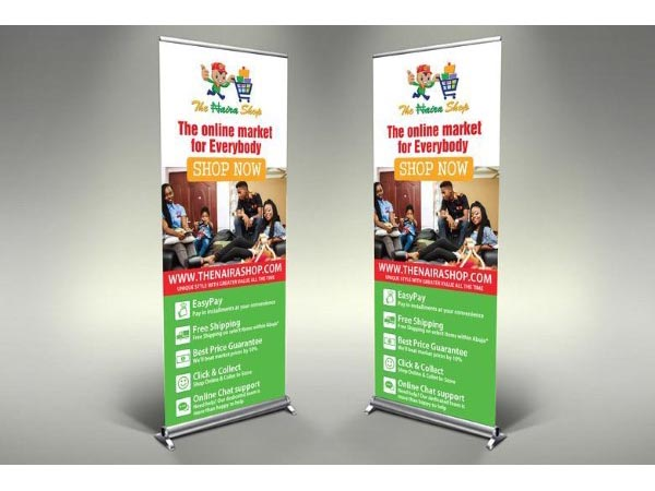 Roll Up Banner For Ecommerce Web Store Flyer Expert